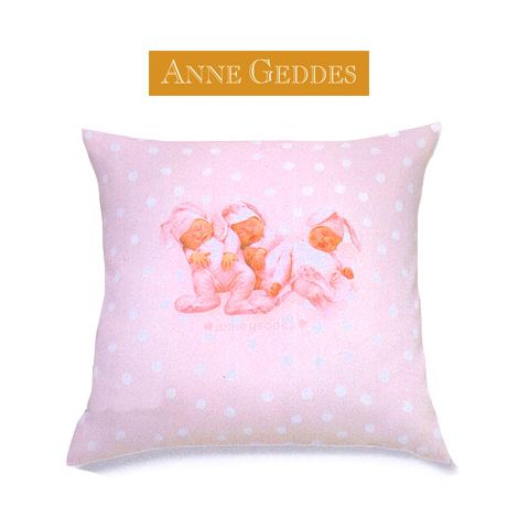 Anne Geddes Piumoni Singoli.Cuscino Anne Geddes Baby Bunnies Cm 40x40 Rosa Softandsoft It