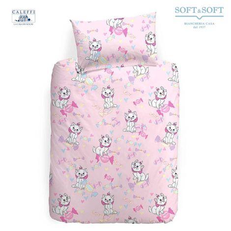 sacco copripiumino lettino con le sponde aristogatti rosa