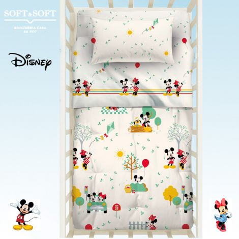 BABY MINNIE & MICKEY Winter Quilt for cots Disney by Caleffi