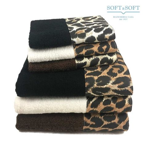 BALZA LEOPARDO Towel Set 1+1 Pure Cotton Terry