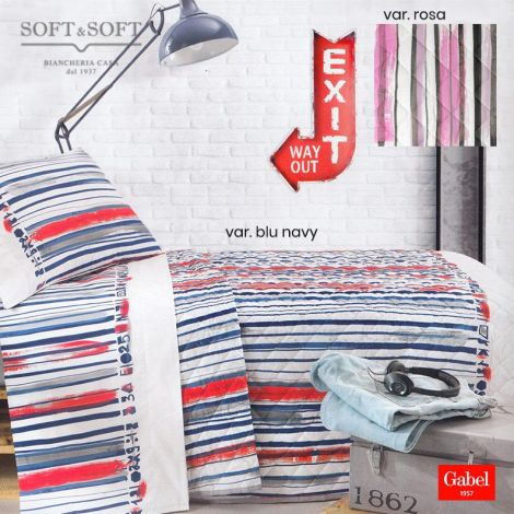 BARCODE Quilted Bedcover SINGLE Bed Size by GABEL