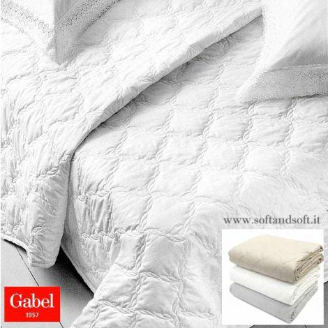 copriletto trapuntino primaverile lusso Gabel percalle bianco beige grigio matrimoniale