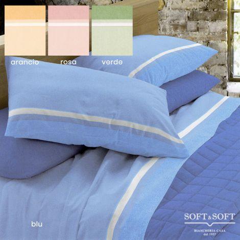 BELEN Flannel Sheet Set for THREE-QUARTER Bed in Warm Cotton
