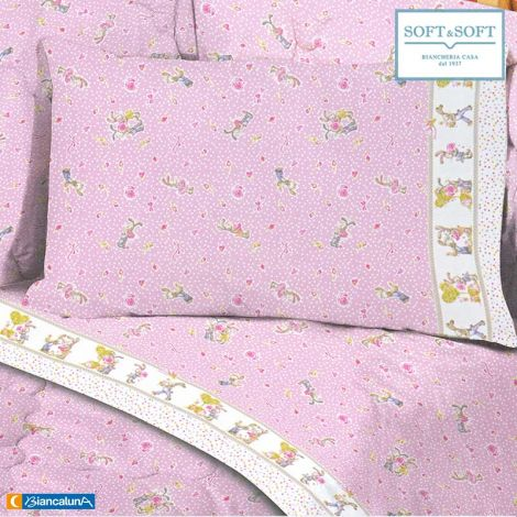 BELL sheet set for cots in pure cotton Biancaluna