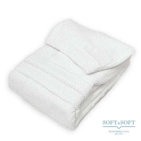 BIO SOFT Accappatoio in spugna di Puro Cotone Bianco