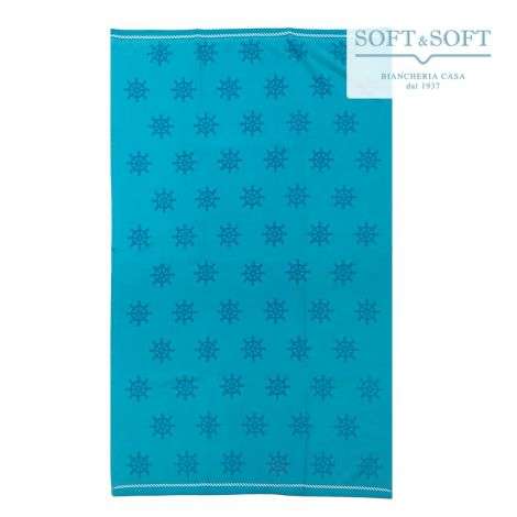 BOAT Micro Terry Beach Towel Velour Fabric