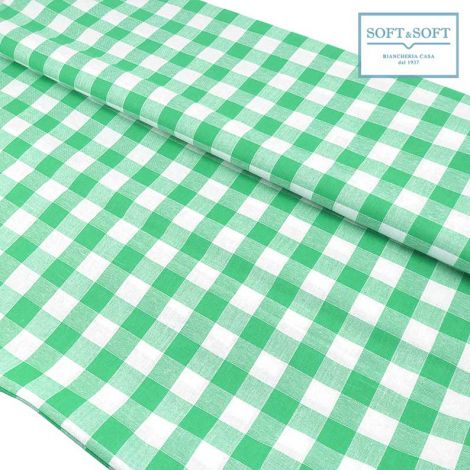 CAMPAGNOLA FABRIC FOR TABLE CLOTH Pure Cotton cm  140 Green Patterns