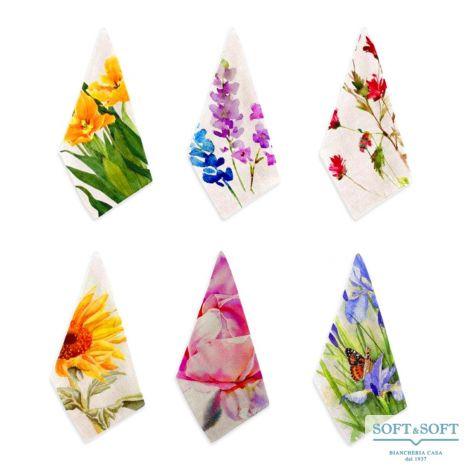 set 6 strofinacci fiori