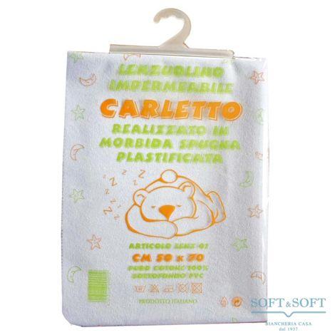CARLETTO Lenzuolino Impermeabile 50x70 in Spugna per Culla / Carrozzina