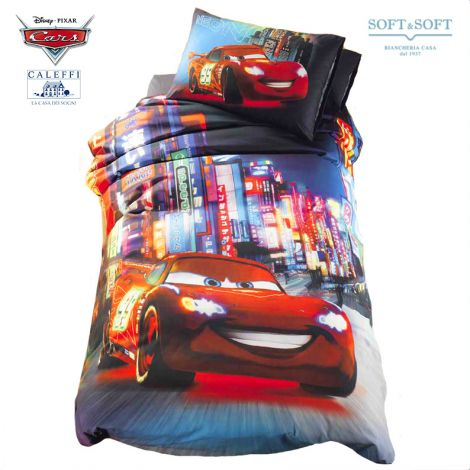 CARS NEON Duvet Cover Set for single beds Disney