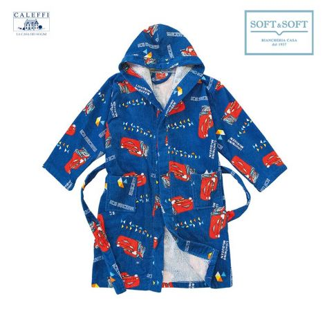 CARS COLORS Hooded Bathrobe for baby Caleffi