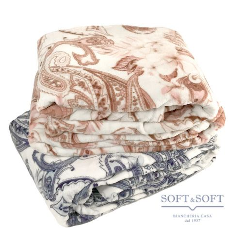CASIA coperta plaid matrimoniale in pile cm 240x210