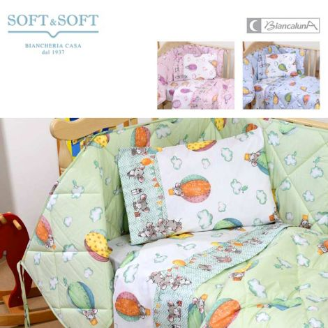 CHELE summer quilt and bumper for cots Biancaluna Nursery