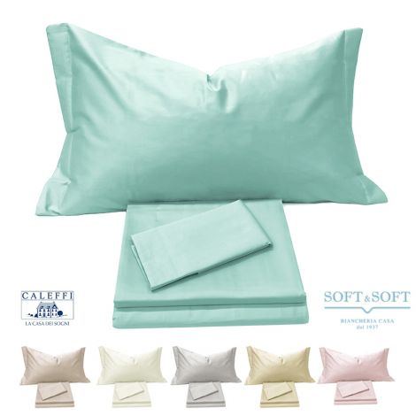 CLASS Satin sheet set for double bed by CALEFFI