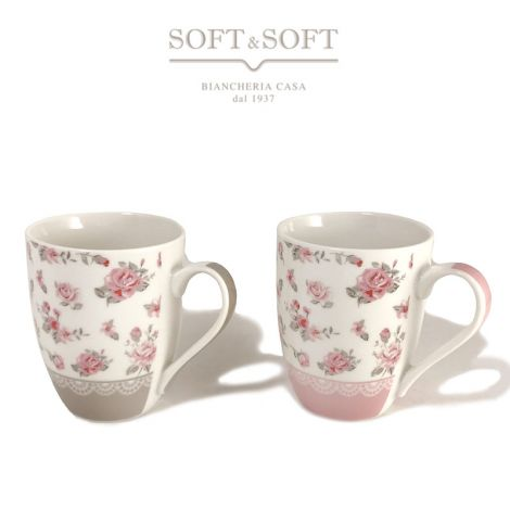 New Bone China porcelain mug with Roses design
