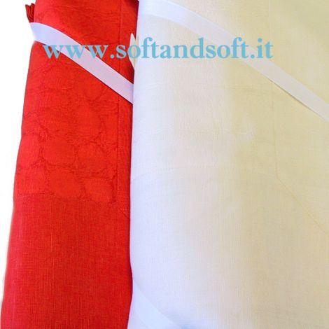 COCCO Tovaglia per 8 cm 180x220 MISTO LINO- Emilio Gatti LARGE