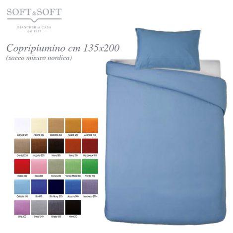 copripiumino singolo cm 135x200 tinta unita