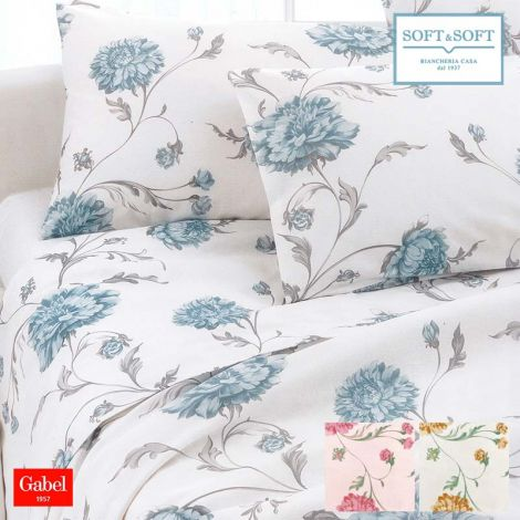 CONNECTION GABEL printed cotton bed sheet set double bed size