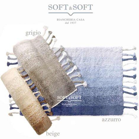 Cotton melange tappeto cm 60x110 in cotone per cucina bagno camera