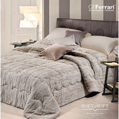 OLIMPIA Ecological Fur Quilt for DOUBLE BED GFFerrari