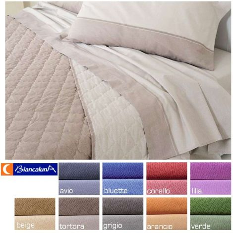 Trapuntino Bianco Matrimoniale.Online Sale Dern Quilted Bedcover For Double Bed Biancaluna