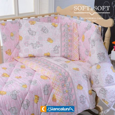 DUCCIO Sheet Set for Cot BIANCALUNA