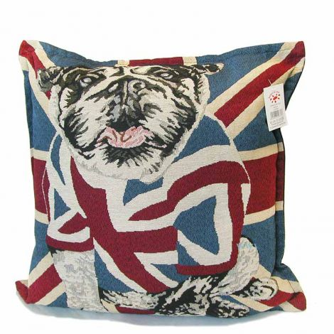 FLAG ENGLISH DOG Pair Pillowcases Cushion cm 43x43