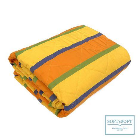 FARNESE fire resistent bedspread 265x260 Yellow