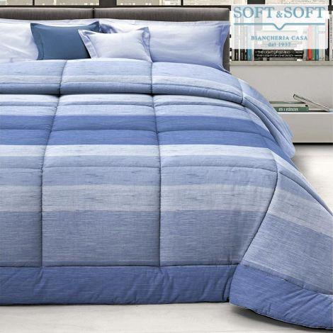 FERRARUCCIA 12 trapunta invernale per letto da una piazza e mezza-Azzurro
