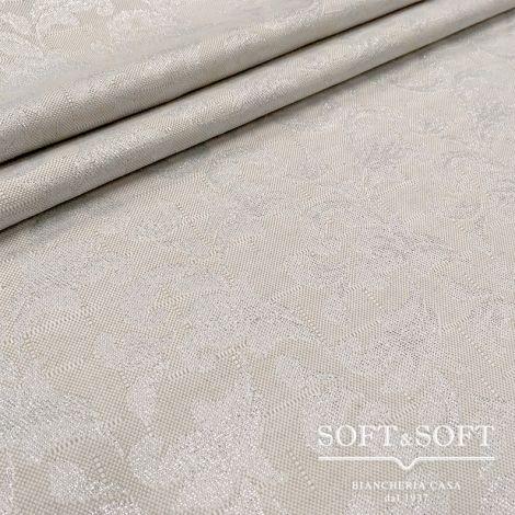tessuto ramage lurex argento
