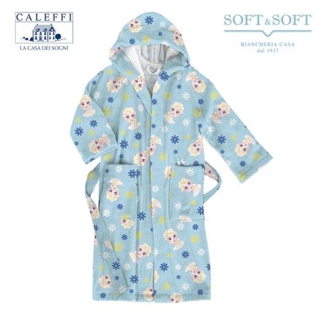 FROZEN CRISTALLI Hooded Bathrobe for baby Caleffi