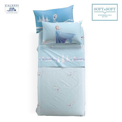 FROZEN INVERNO Sheet Set for Single Bed Disney by CALEFFI
