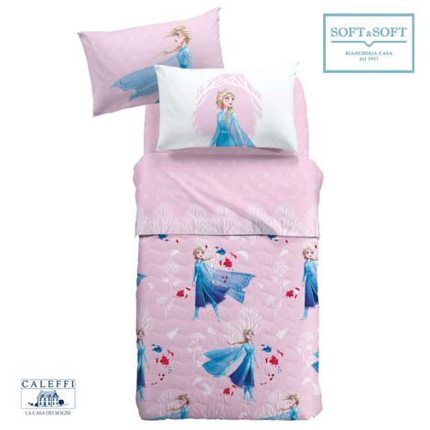 FROZEN NATURA Quilted Bedcover SINGLE Bed Size by Disney CALEFFI