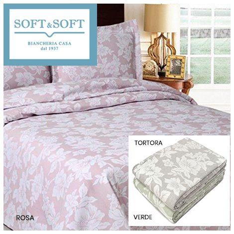 FLOWER double bedspread in matelassé jacquarde fabric cm 260x260