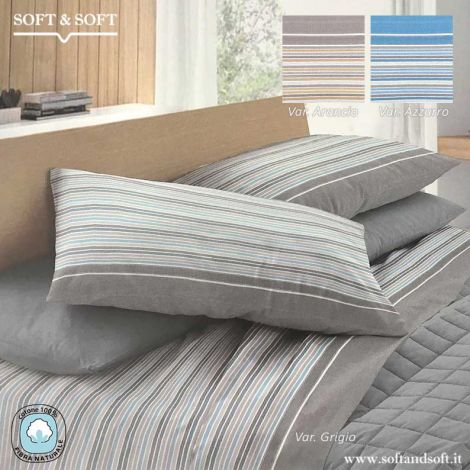 GAIA Pure Cotton Flannel Sheet Set for Three-Quarter Bed