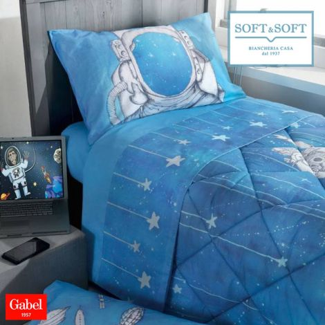 GALAXY single size bed set in Gabel cotton