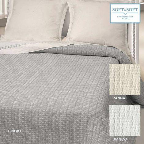 GEO double bedspread in matelassé jacquarde fabric cm 260x260