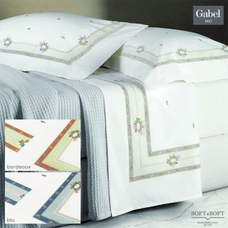 I SEGRETI 688 Pure Cotton Percale Sheet Set DOUBLE Bed Size by GABEL