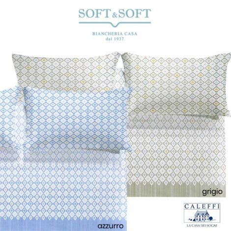 IKAT Sheet Set FRENCH Size Bed cm 140 CALEFFI
