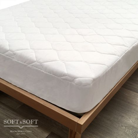 IL CONFORTEVOLE Quilted Mattress Cover DOUBLE Hypoallergenic and Anti-mite