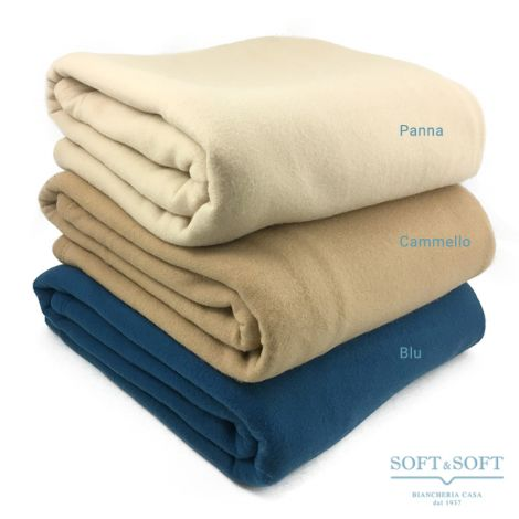 ILENIA Pile Blanket for SINGLE Bed Solid Colour