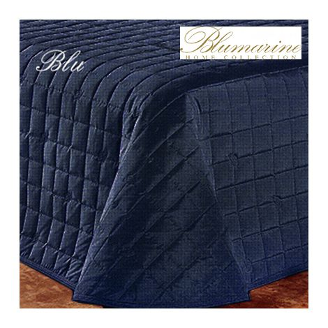 BLUMARINE Bluvi Stin Quilted Bedcover for single beds blu