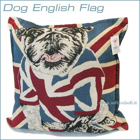 FLAG ENGLISH DOG Pair Pillowcases Cushion cm 43x43