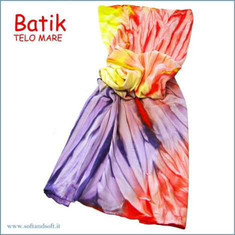BATIK Telo Mare in Micro Spugna 90x160 Arancio