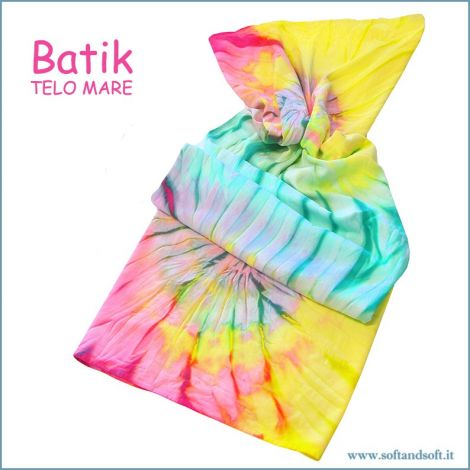 BATIK Telo Mare in Micro Spugna 90x160 Giallo