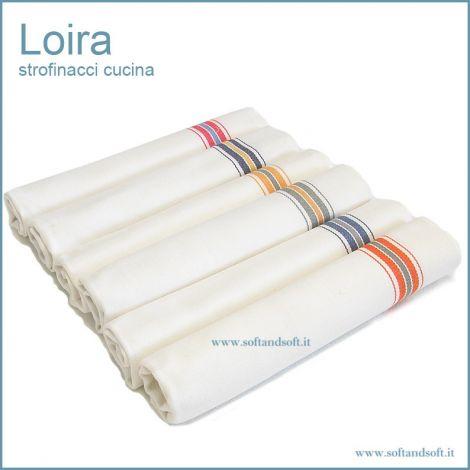 Loira Strofinacci per cucina cm 60x100 (6 pezzi) misura ampia