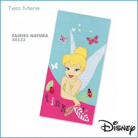 Fairies Natura Beach Towel cm 75x150 Disney