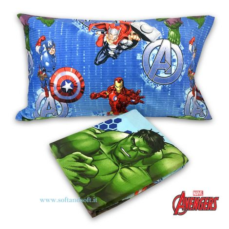 AVENGERS Pure Cotton Sheet Set for Single Bed Marvel