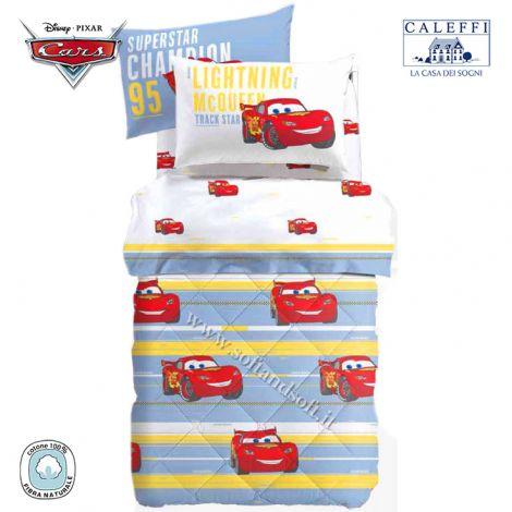CARS SPORT Winter Quilt for Single Bed Disney by CALEFFI