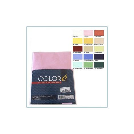 Solid Flat Sheet for single beds - Colorè